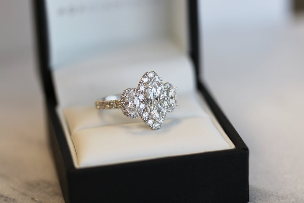 Marquise Three Stone Ring by Ada Diamonds