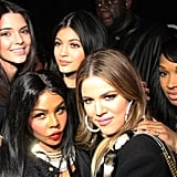 She Hung Out With Sisters Kylie and Khloé, Malika, and Lil Kim at the Diddy and Snoop Dogg Concert