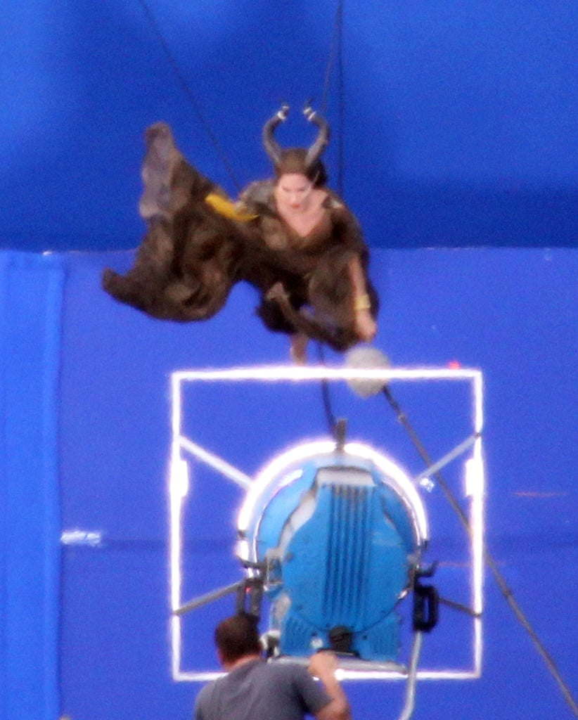 Angelina Jolie did stunts on set.