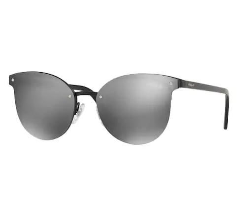 Cat-Eye Mirrored Sunglasses