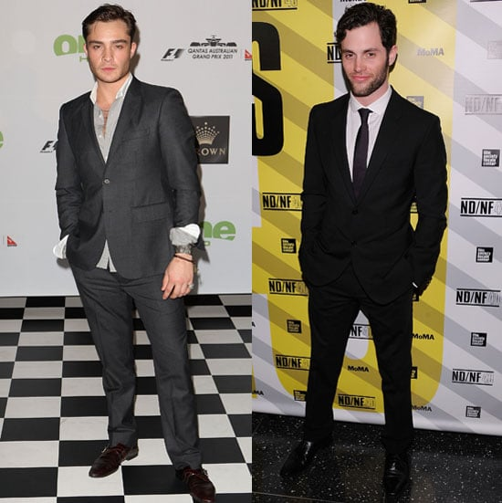 Pictures of Penn Badgley and Ed Westwick on the Red Carpet