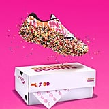 It comes packaged in a Dunkin' Donuts box, just like a box of rainbow sprinkled doughnuts.