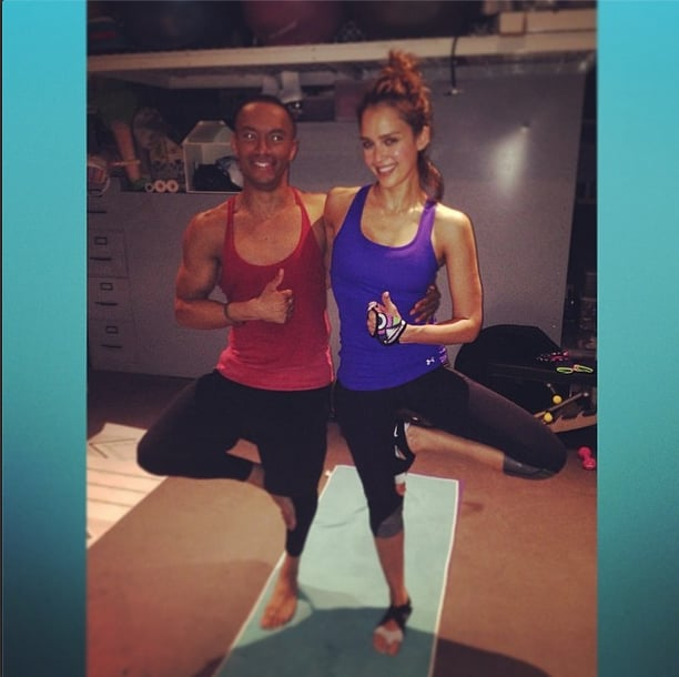 Post-workout pic? No sweat, says Jessica Alba.