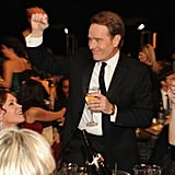 Bryan Cranston fist-pumped at the show.