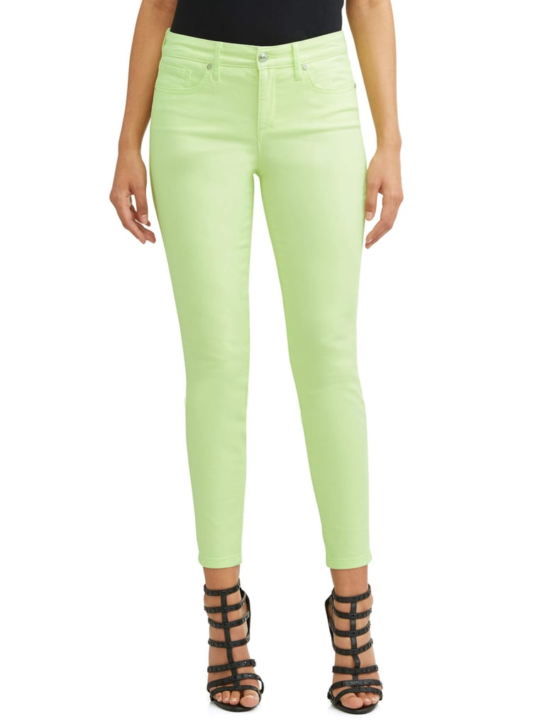 Sofía Skinny Mid Rise Stretch Ankle Twill Jean in Lime