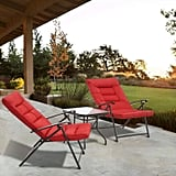 Patiomore 3 Piece Outdoor Padded Patio Folding Chair Furniture Set