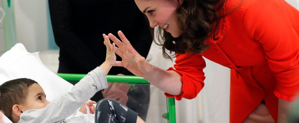 Kate Middleton Lights Up the Room With Her Smile as She Visits Sick Children