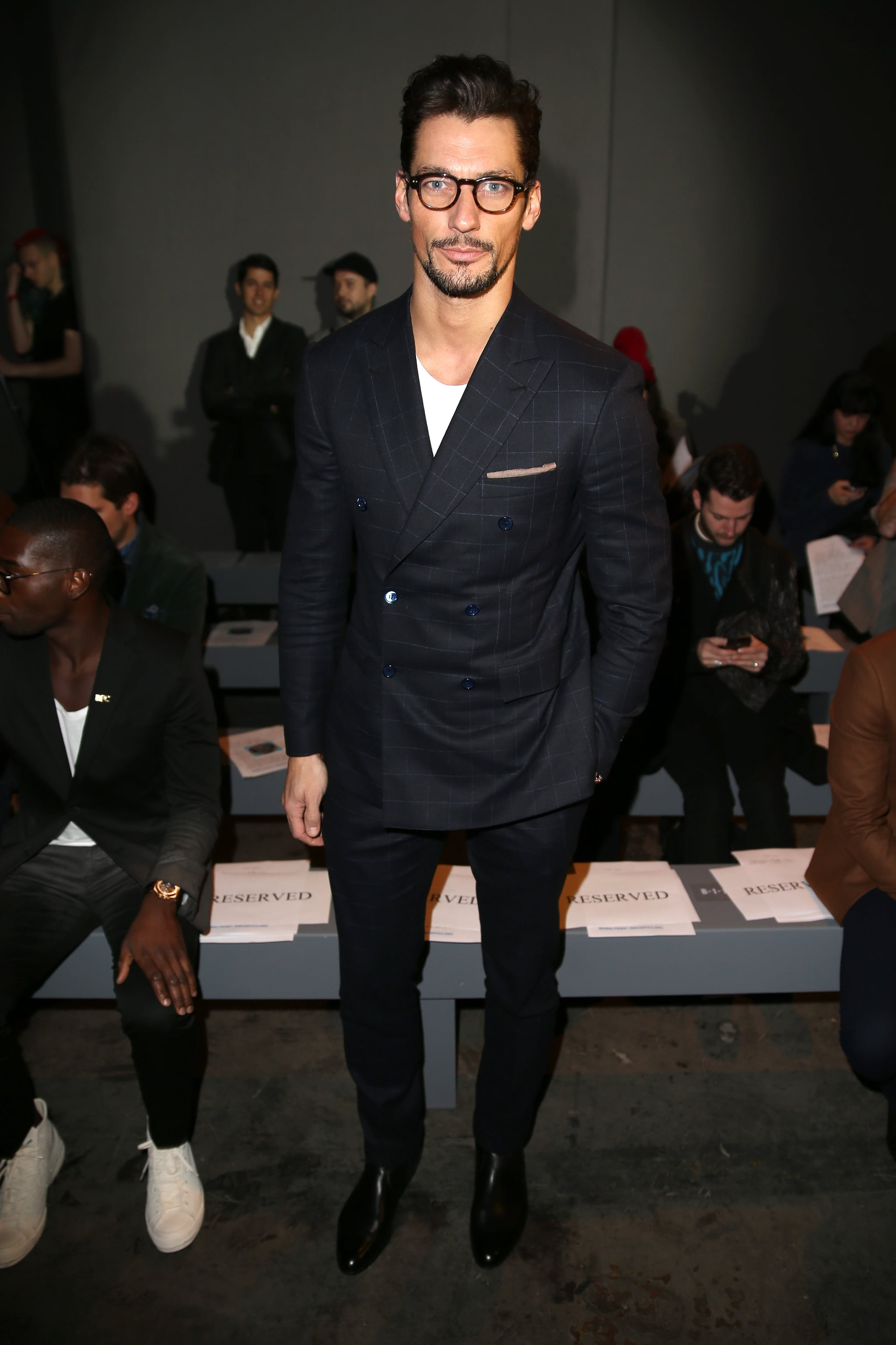 David Gandy at the Topman Men's Fashion Week show.
