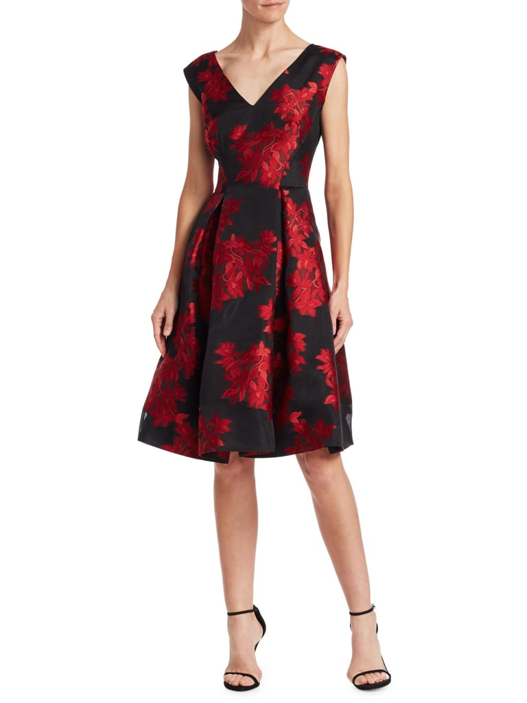 Zac Posen Floral Fit-And-Flare Cocktail Dress | Stylish TV Show ...