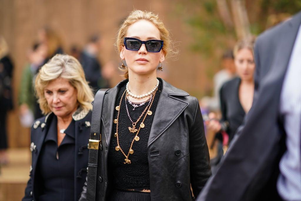 Jennifer Lawrence and Julianne Moore at Paris Fashion Week