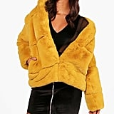 Boohoo Ellie Boutique Faux Fur Coat