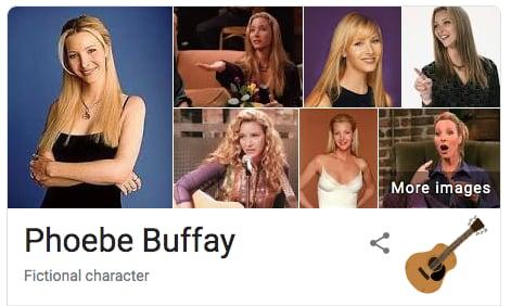 Phoebe Buffay Friends Google Easter Egg