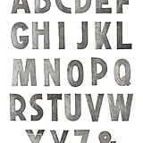 Running out of time and money? Nab one or two of these Anthropologie zinc letters ($18) in your favorite friend's initials.