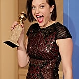 Elisabeth Moss Had a Lot of Feelings About Her Golden Globe Win