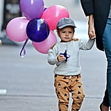 Flynn Bloom carried balloons around NYC.