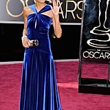 Robin Roberts on the red carpet at the Oscars 2013.