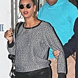Beyoncé Knowles and Jay-Z headed home.