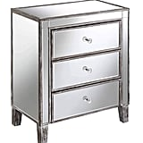 Convenience Concepts Gold Coast 3 Drawer Mirrored End Table