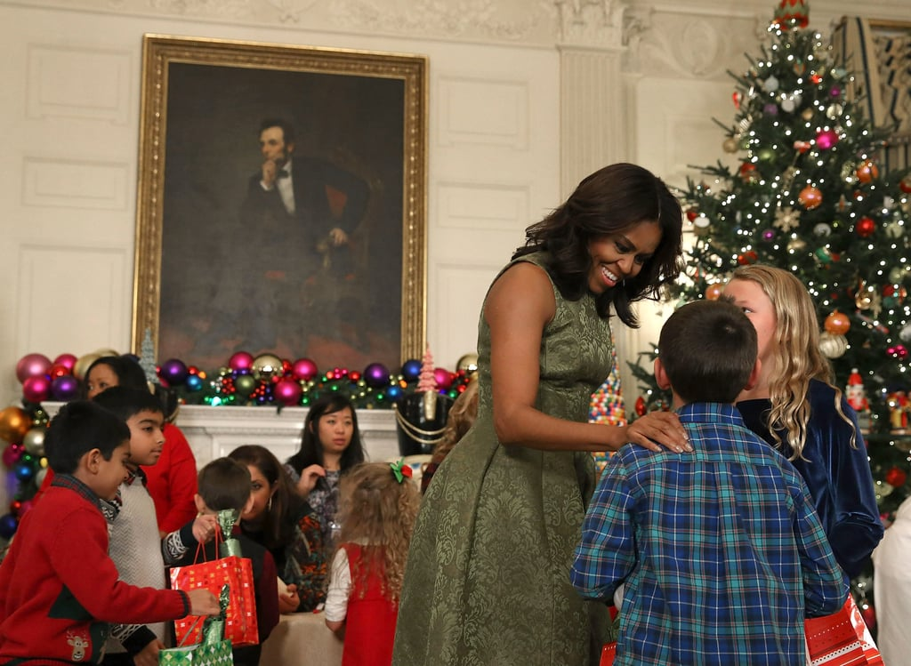 michelle obama white house christmas decorations 2015 - Obama Christmas Decorations