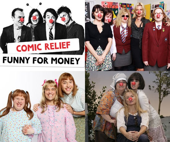 Photos and Details of Comic Relief 2009 Featuring Kate Moss, Robbie Williams and Cheryl Cole