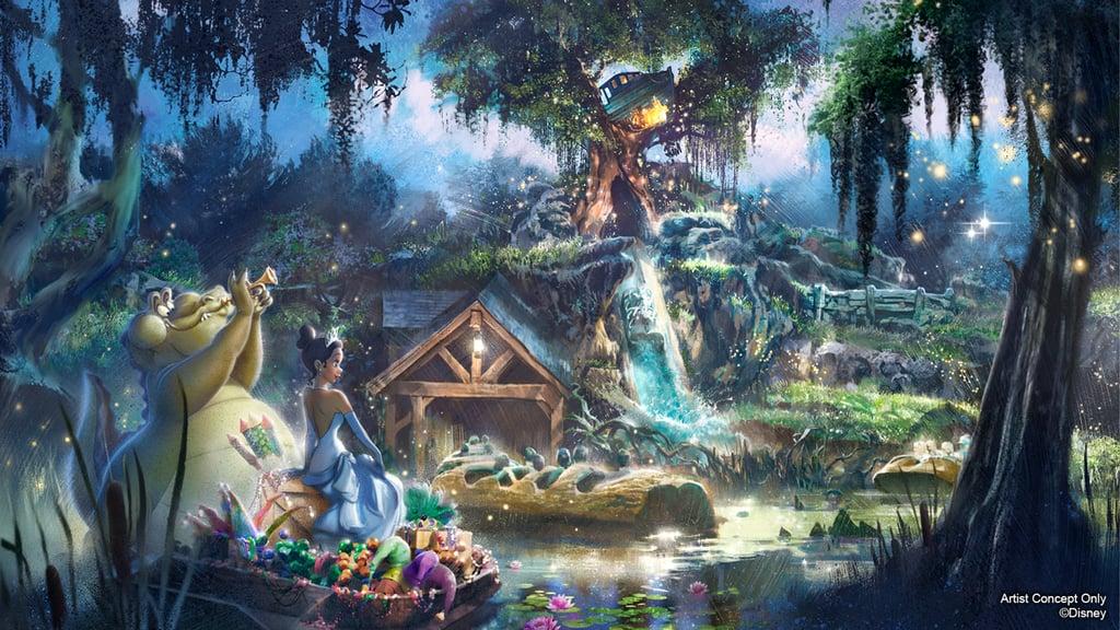 Disney's Splash Mountain Becoming Princess and the Frog Ride