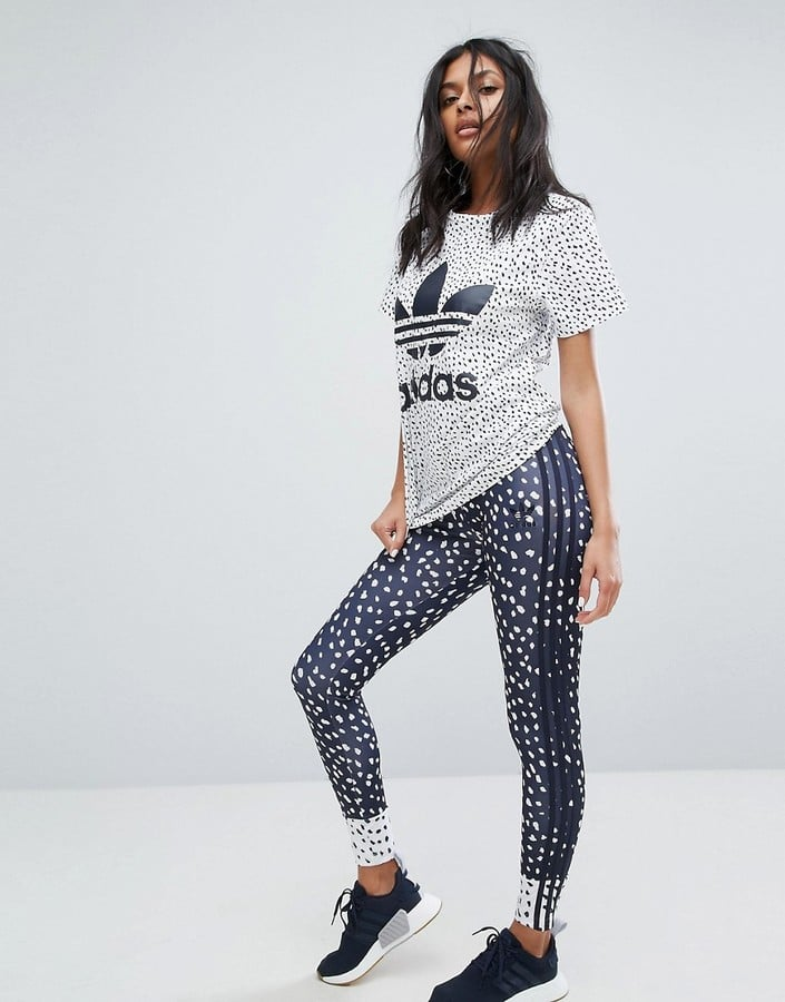 Adidas Three Stripe Print Legging