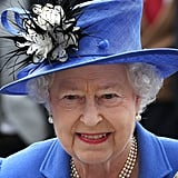 The queen smiled at her first official Diamond Jubilee event this weekend.