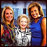 Kathie Lee Gifford and Hoda Kotb posed with Betty White on the set of the Today show.  Source: Instagram user todayshow