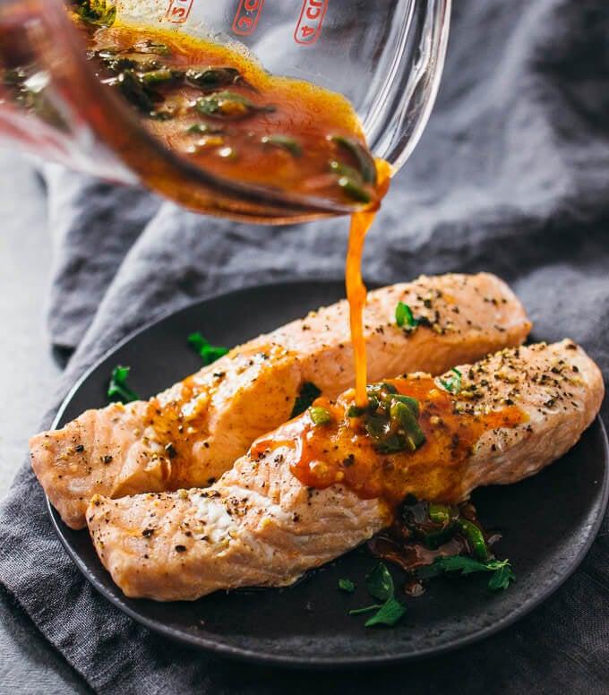 Salmon With Chili Lime Sauce