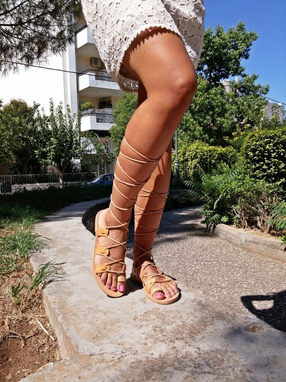 Etsy Lace up Sandals