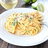 Mexican Corn Pasta With Chipotle Alfredo Sauce