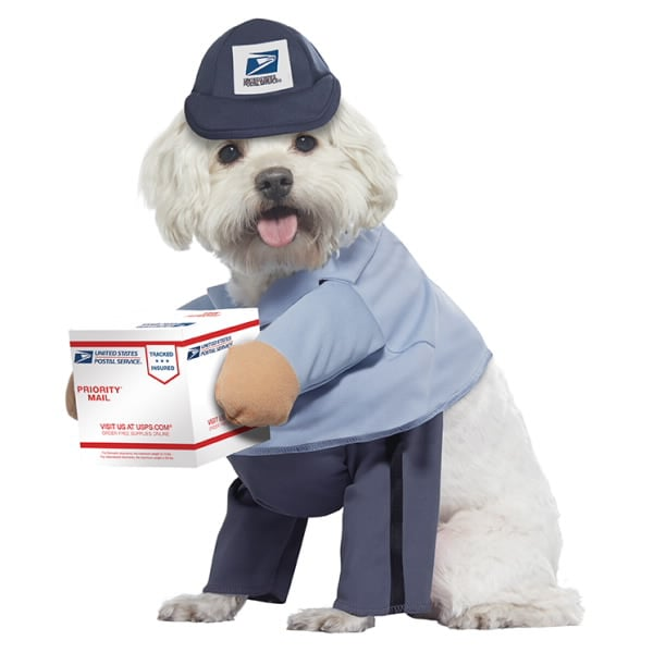 USPS U.S. Mail Carrier Dog Costume