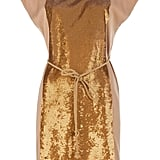 We're digging the geo-shaped gold sequin panel that makes this beige shift dress go from cute to statement piece. Robert Rodriguez Silk Sequin Panel Dress ($1,269)