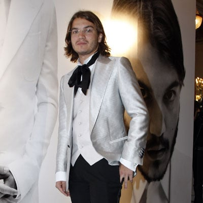 Emile Hirsch At the Valentino '09 Spring Summer Men's Wear Show