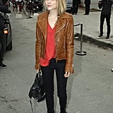 Clémence Poésy was perfectly street-chic outside Balenciaga.