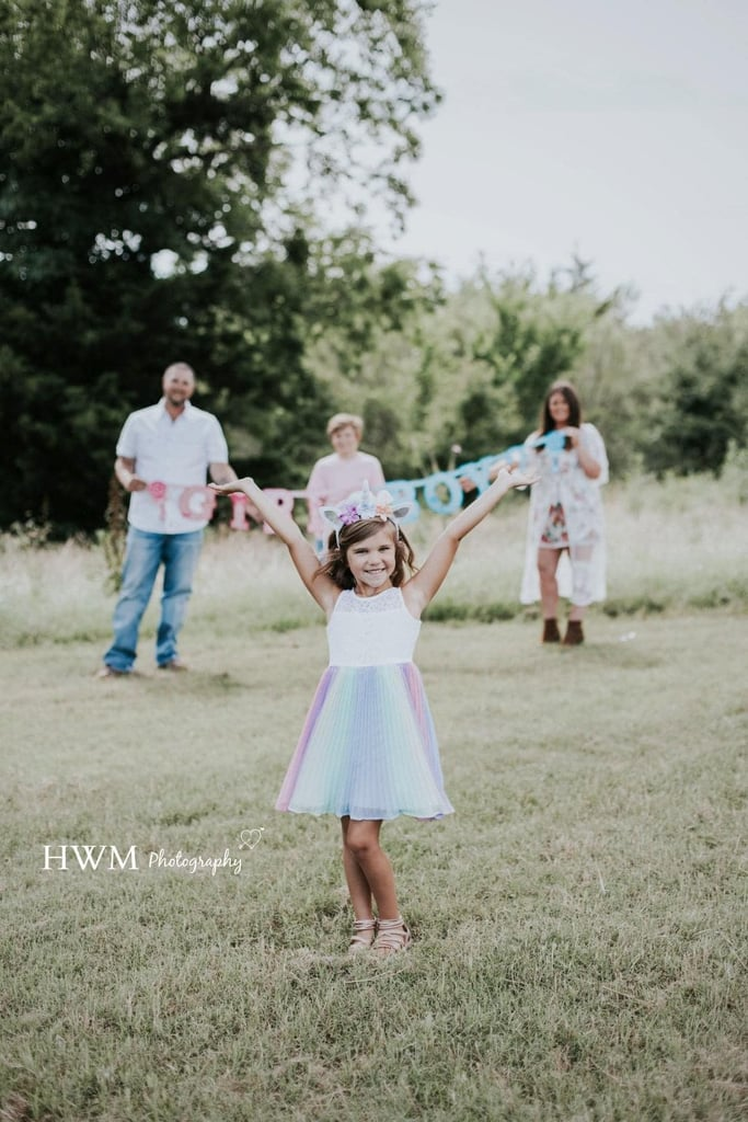 "When Julie and Daniel Hindsley's transgender daughter, Ella, first told them she wanted to be a girl, they didn't know what to expect, but 6-year-old Ella has since transitioned to the little girl she's always wanted to be thanks to unwavering support from her family.  ""The first time she told me to 'make her a girl' out of frustration, I was shocked, scared, and freaking out inside,"" Julie told POPSUGAR. ""She had told me many times prior to that that she had wished she was a girl and wished she could have long hair and wear dresses. When she got upset about it, I tried to appease her by telling her we could grow out her hair.""      Related:                                                                                                           I'm Pansexual, and Here's What I Want You to Know               Eager to help their child navigate her identity, Julie and Daniel immediately began looking for a counsellor. ""I knew deep down Ella was transgender, but talking with the counsellor helped me feel better about saying it out loud,"" Julie explained. ""I knew talking to someone would help my husband as well. She told us that we needed to let Ella lead and that the sooner we did the social transition, the better it would be for her mental well-being."" ""[The counselor] told us that we needed to let Ella lead and that the sooner we did the social transition, the better it would be for her mental well-being."" After working with their therapist, Julie and Daniel felt equipped to help Ella. ""After our joint session, my husband started privately looking at girls' names that started with an E, and I caught him,"" she said. ""It was huge and his first realisation that we had a transgender daughter. He was fully on board with supporting her."" The next step for the family was helping Ella navigate the impending school year as a girl. Although Daniel and Julie asked Ella's thoughts on the matter, they already knew the answer. ""She was thrilled,"" Julie said. ""We were in the middle of the school year, so we told her she would have to wait as it would be hard on everyone around her to change. Looking back now, we should have just tried to either get the school on board quicker or shouldn't have mentioned a social transition to her until we were fully ready to do it."" Although Ella hadn't formally used she/her pronouns in school before the COVID-19 outbreak, her classmates were very accepting of her expressing gender through clothes. ""We did end up letting her wear whatever she wanted to school in the middle of the year, but did not change name or pronouns yet,"" Julie shared. ""The first week that she wore full-on feminine clothing, she got questions from a few kids, but overall her experience went well.""  ""The first week that she wore full-on feminine clothing, she got questions from a few kids, but overall her experience went well."" To officially celebrate Ella embracing her true identity, Julie staged a gender-reveal photo shoot. She enlisted the help of photographer Heather Harris Witt, and the family took photos they hope Ella will cherish for years to come.  ""Although typical gender reveals seem to place a significant amount of stress on how important it is to be a boy or a girl 20 weeks before the child is born, I felt it was necessary to have this photoshoot for Ella,"" Julie explained in a Facebook post. Plus, she added, ""Her favourite colour has always happened to be pink."""