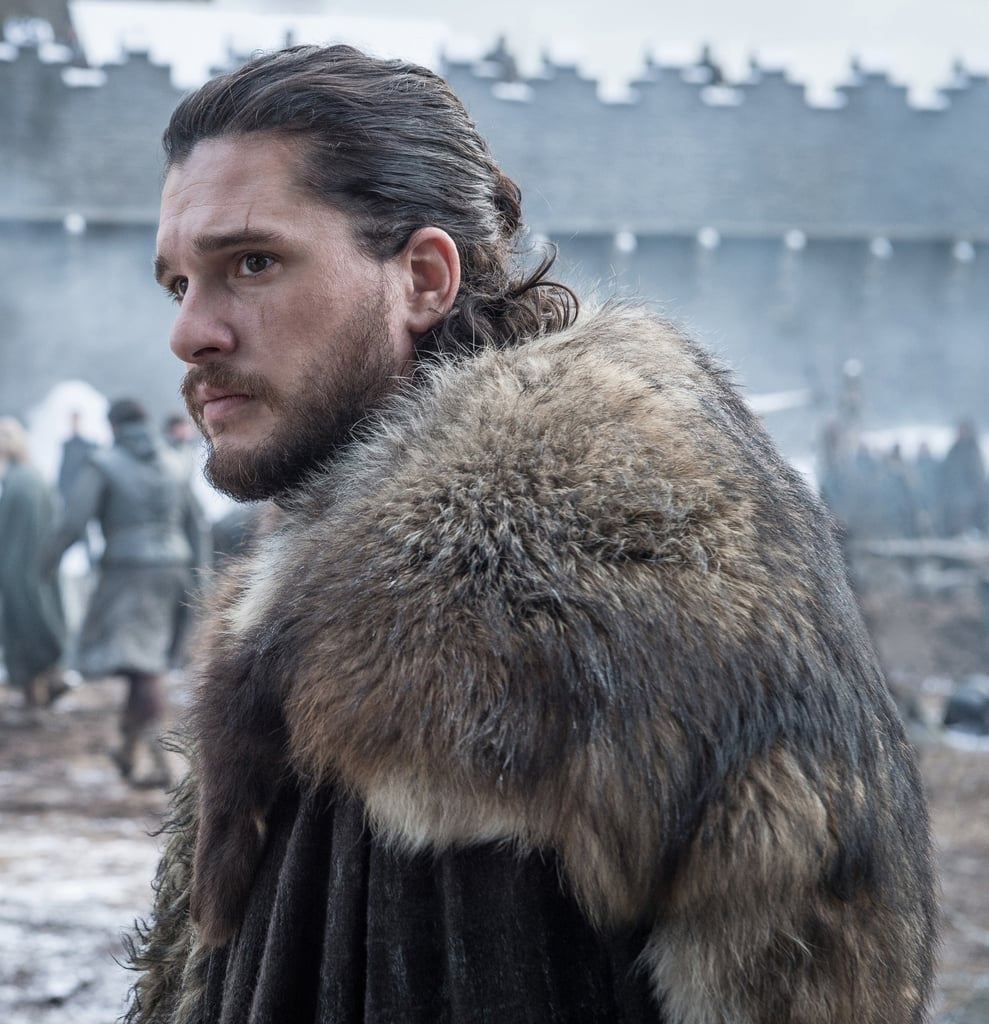 Jon Snow's Man Bun on Game of Thrones Season 8