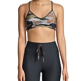 The Upside Andie Printed Stretch-Jersey and Mesh Sports Bra