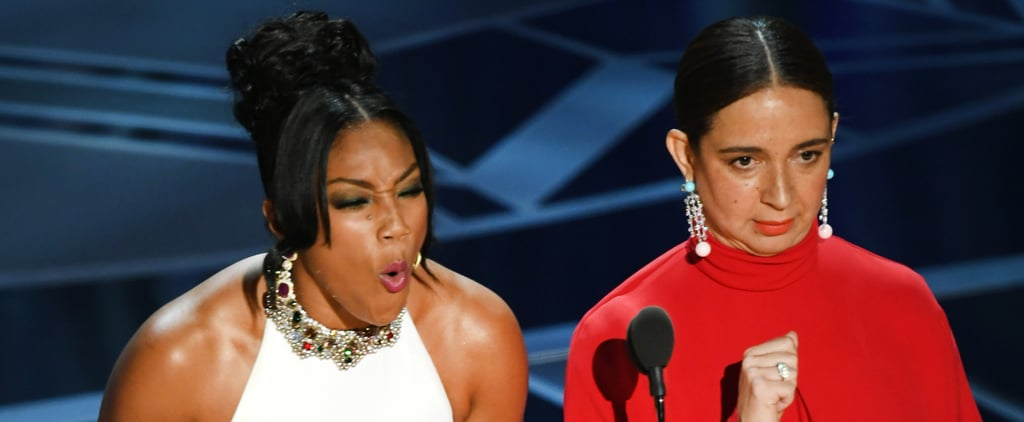 Tiffany Haddish and Maya Rudolph at the 2018 Oscars