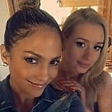 Jennifer Lopez took a selfie with Iggy Azalea.  Source: Instagram user jlo/a>
