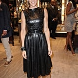 Sarah Jessica Parker in a leather Prabal Gurung dress.