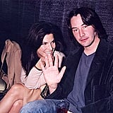 Sandra and Keanu Reeves were all smiles at the September 1996 ShoWest presentation in Las Vegas.