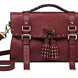 Tassel bag Black Forest soft matte leather.