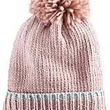 SO Women's Ribbed Pompom Beanie