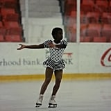 She used to be an ice-skater (not to mention a crazy-adorable kid).
