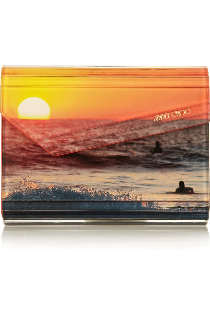 """I love the idea of infusing a bold pop of color with a standout print, especially one consisting of a beautiful beach sunset. This clutch will have you loving long Summer days right into Fall."" — Allison McNamara, FabTV host and producer 