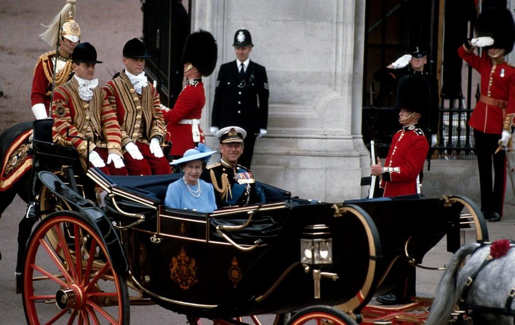 Queen Elizabeth II and Prince Philip in 1986