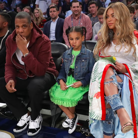 Beyonce With Jay Z and Blue Ivy at NBA All-Star Game 2017