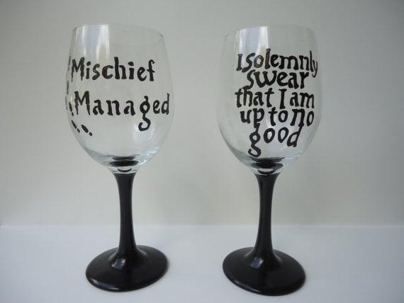 Harry Potter Wineglasses ($28)