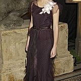 For the 2004 UK premiere of Harry Potter and the Prisoner of Azkaban, Emma wore a vintage dress from the 1920s she and her mom found. She wore a floral corsage to hide a rip in the gown.